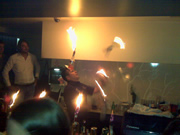 Spontaneous fire show at one of Dubrovnik's bars
