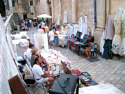 Souvenir Market in Dubrovnik offers cloths and jewellery