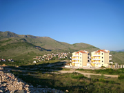 New buildings on Ivanica overlook Adriatic Sea and Dubrovnik Riviera
