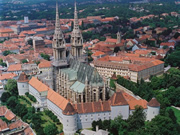 Zagreb Cathedral in Zagreb, the Capital of Croatia