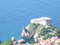 Detached fortress Lovrijenac protects Dubrovnik from the sea and land