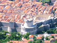 Fortress Minceta on Dubrovnik City walls