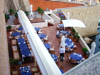 Restaurant below Dubrovnik City walls