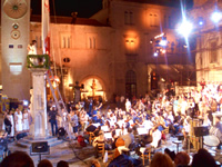 General Rehearsal of opening ceremony of Dubrovnik Summer Festival